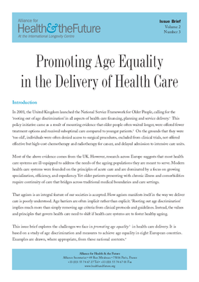 Promoting Age Equality in the Delivery of Health Care