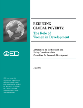 Reducing Global Poverty: The Role of Women in Development