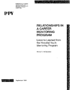 Relationships in a Career Mentoring Program: Lessons Learned from the Hospital Youth Mentoring Program