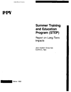 Report on Long-Term Impacts (STEP program)