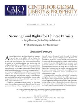 Securing Land Rights for Chinese Farmers: A Leap Forward for Stability and Growth