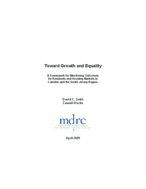 Toward Growth and Equality: A Framework for Monitoring Outcomes for Residents and Housing Markets in Camden and the South Jersey Region