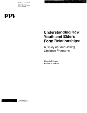 Understanding How Youth and Elders Form Relationships: A Study of Four Linking Lifetimes Programs
