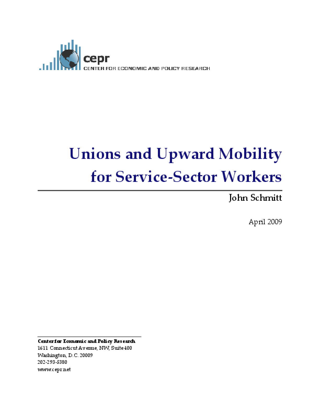 Unions and Upward Mobility for Service-Sector Workers