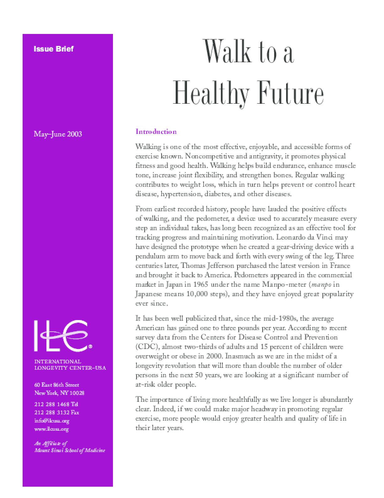 Walk to a Healthy Future
