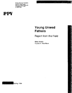The Young Unwed Fathers Pilot Project: Report from the Field