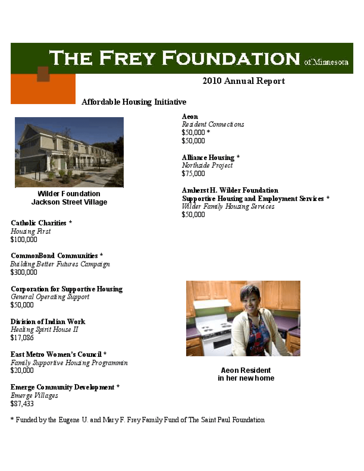 Frey Foundation 2010 Annual Report