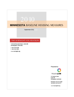 2010 Minnesota Baseline Housing Measures