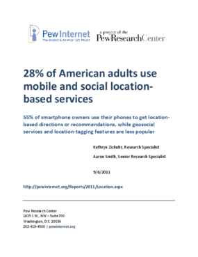 28% of American Adults Use Mobile and Social Location-Based Services