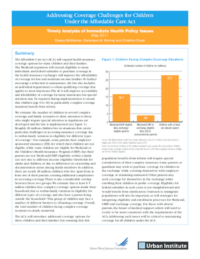 Addressing Coverage Challenges for Children Under the Affordable Care Act