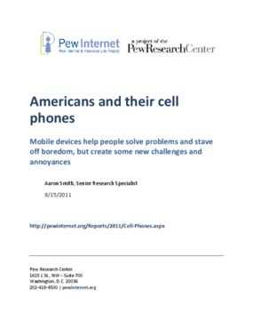 Americans and Their Cell Phones