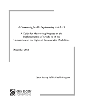 A Community for All: Implementing Article 19