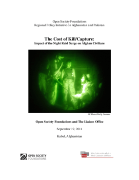 The Cost of Kill/Capture: Impact of the Night Raid Surge on Afghan Civilians