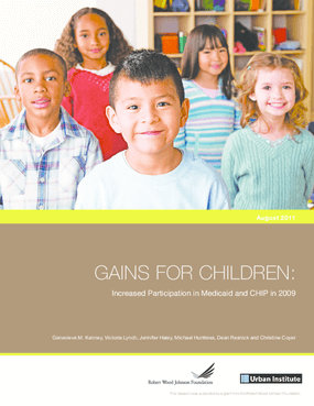 Coverage Gains for Children: Increased Participation in Medicaid and CHIP in 2009