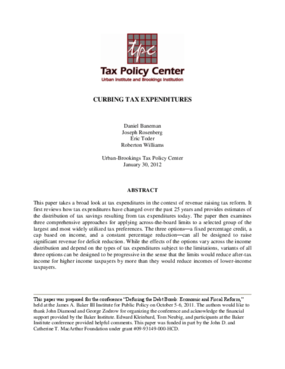 Curbing Tax Expenditures