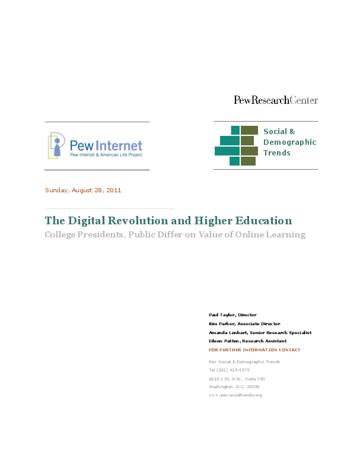 Digital Revolution and Higher Education, The