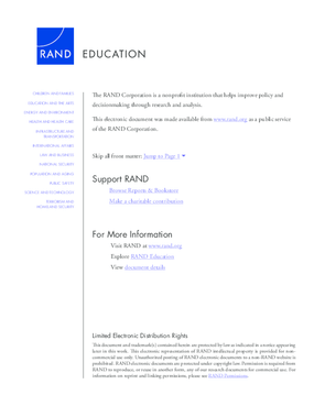 Federal and State Roles and Capacity for Improving Schools