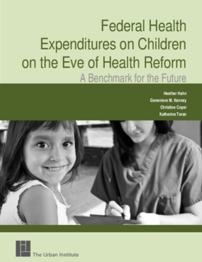 Federal Health Expenditures on Children on the Eve of Health Reform: A Benchmark for the Future