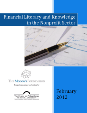 Financial Literacy and Knowledge in the Nonprofit Sector