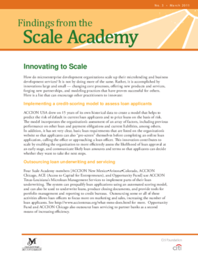 Findings From the Scale Academy: Innovating to Scale