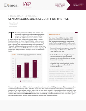 From Bad to Worse: Senior Economic Insecurity on the Rise
