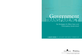 Government Transparency: Six Strategies for More Open and Participatory Government