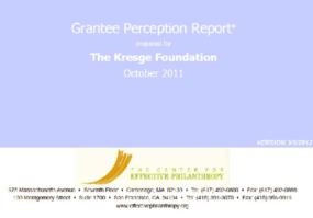 Grantee Perception Report 2011: Kresge Foundation