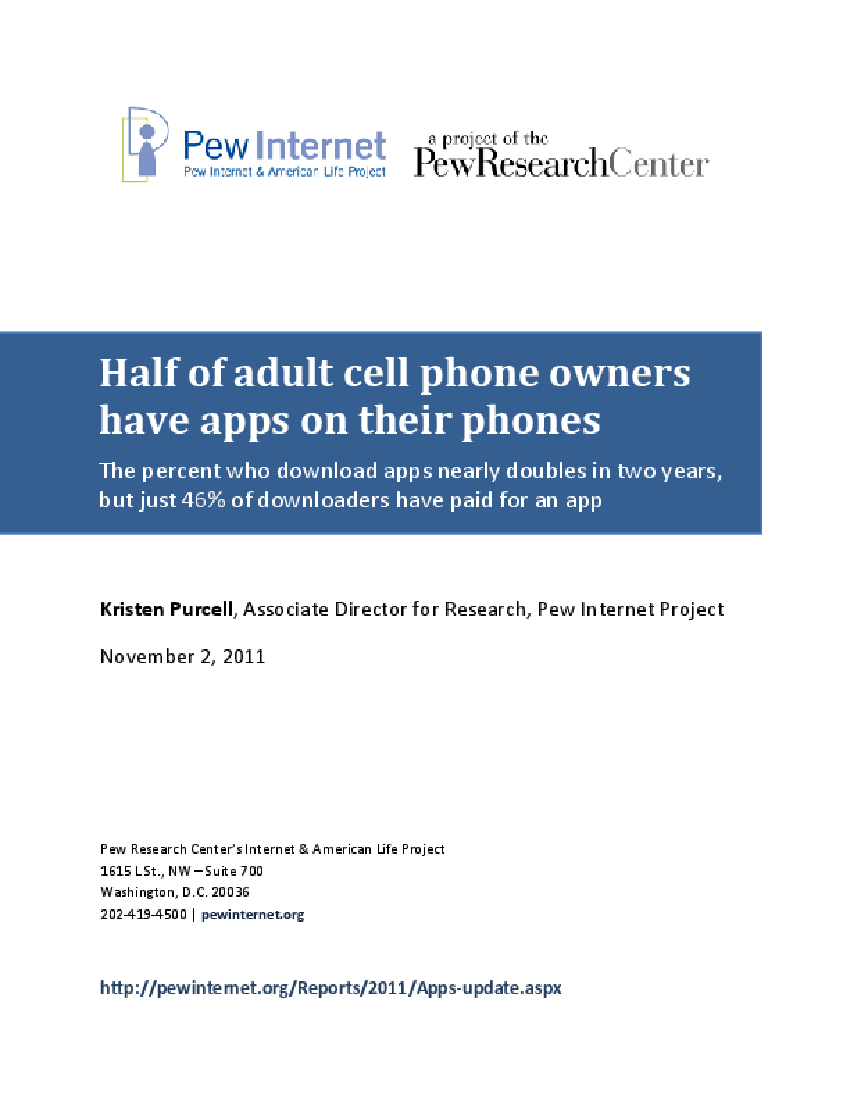 Half of Adult Cell Phone Owners Have Apps on Their Phones