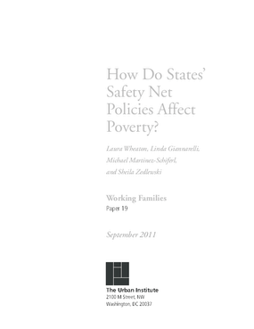How Do States' Safety Net Policies Affect Poverty?