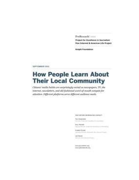 How People Learn About Their Local Community