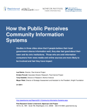 How the Public Perceives Community Information Systems
