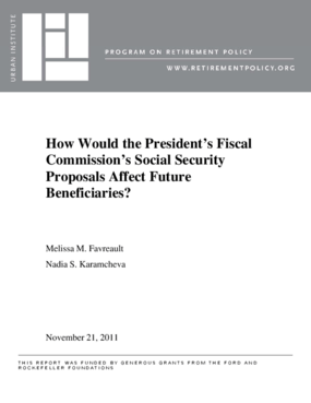 How Would the President's Fiscal Commission's Social Security Proposals Affect Future Beneficiaries?