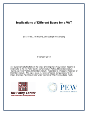 Implications of Different Bases for a VAT