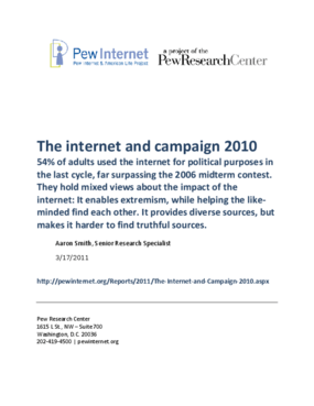 The Internet and Campaign 2010