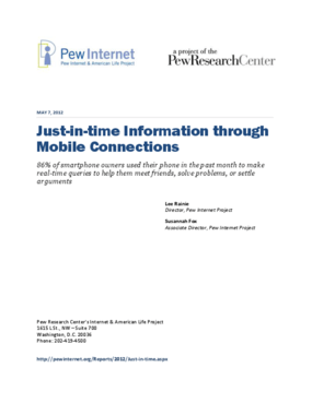 Just-in-Time Information Through Mobile Connections