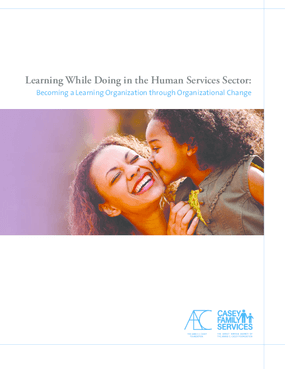 Learning While Doing in the Human Services Sector: Becoming a Learning Organization Through Organizational Change