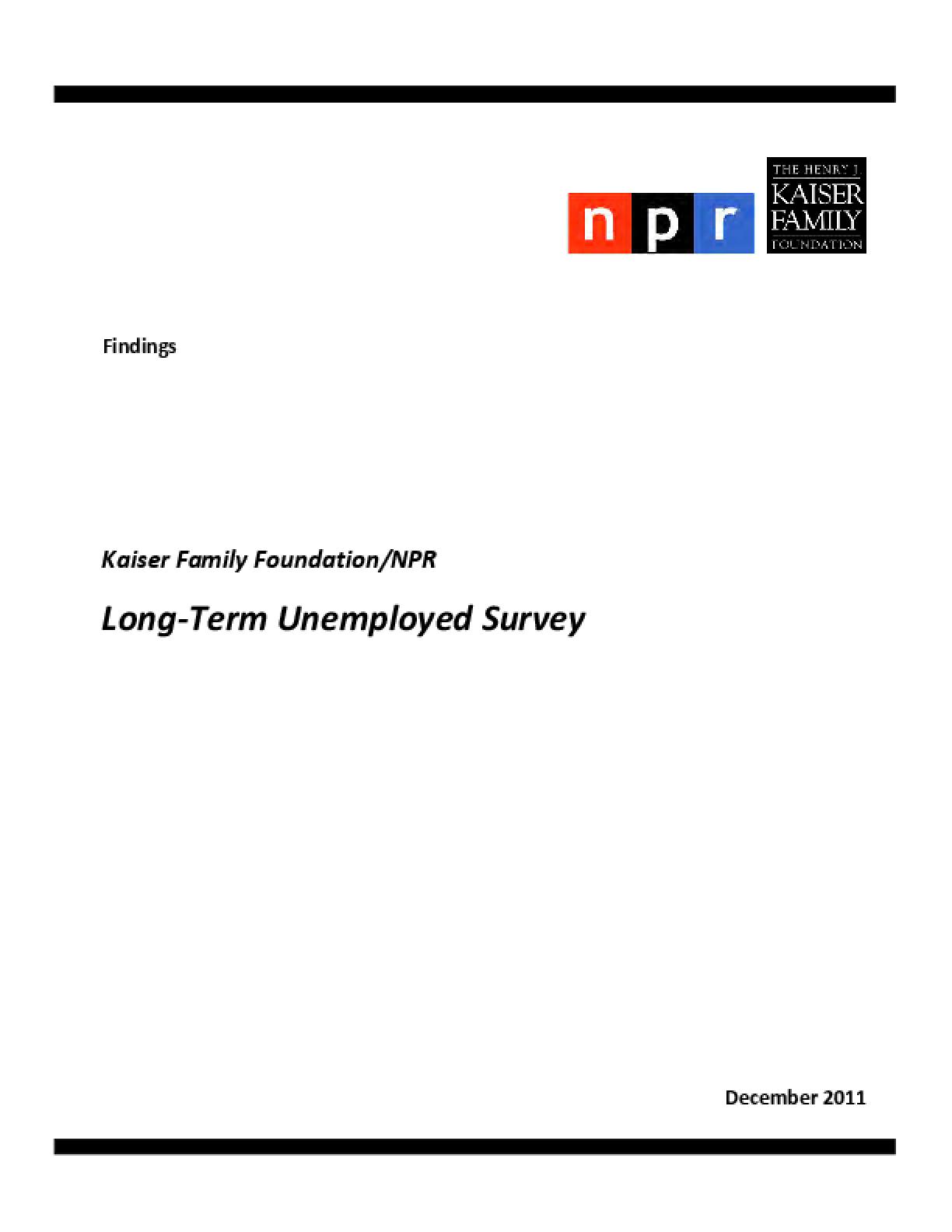 Long-Term Unemployed Survey