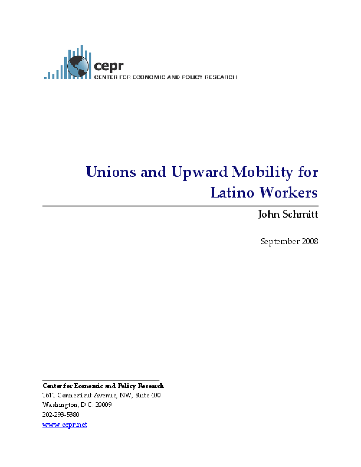Unions and Upward Mobility for Latino Workers