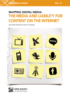 Mapping Digital Media: The Media and Liability for Content on the Internet