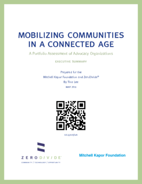 Mobilizing Communities in a Connected Age: A Portfolio Assessment of Advocacy Organizations: Executive Summary