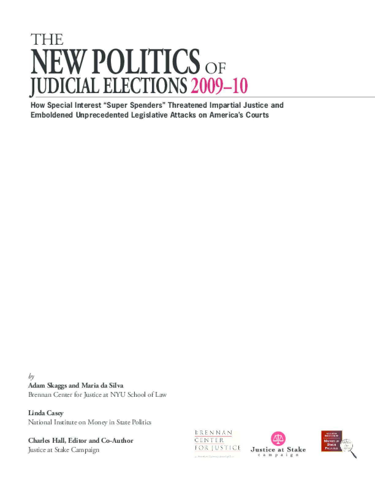 The New Politics of Judicial E...