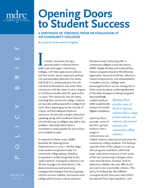 Opening Doors to Student Success: A Synthesis of Findings From an Evaluation at Six Community Colleges
