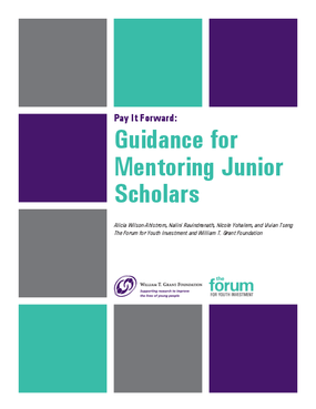 Pay It Forward: Guidance for Mentoring Junior Scholars
