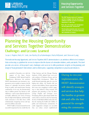 Planning the Housing Opportunity and Services Together Demonstration: Challenges and Lessons Learned