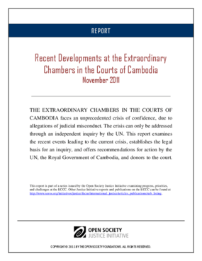 Recent Developments at the Extraordinary Chambers in the Courts of Cambodia: November 2011