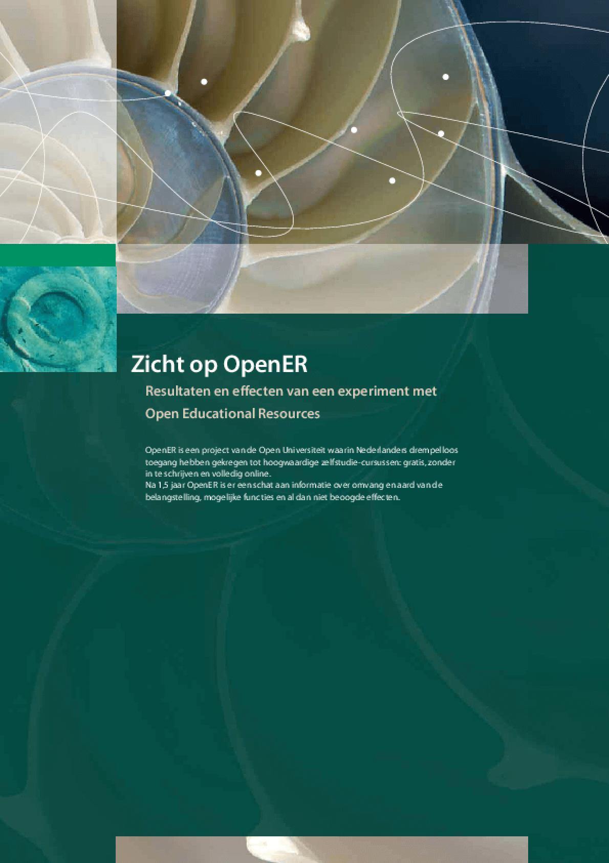 Zicht op OpenER - Resultaten en effecten