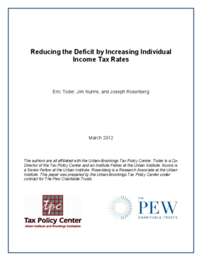 Reducing the Deficit by Increasing Individual Income Tax Rates