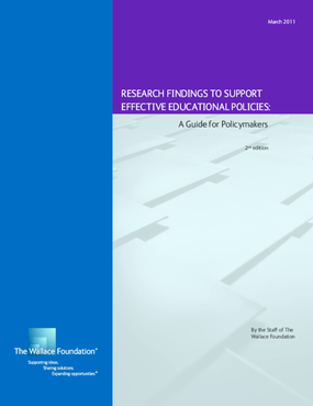 Research Findings to Support Effective Educational Policies: A Guide for Policymakers