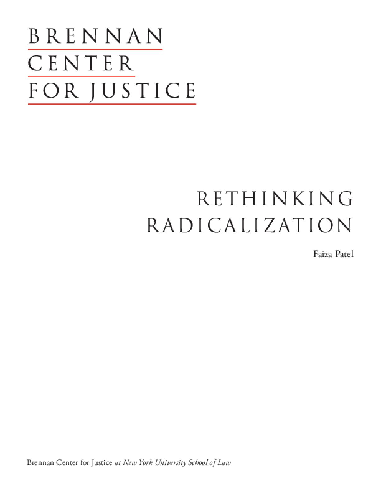 Rethinking Radicalization