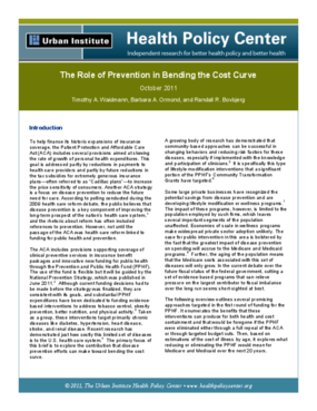 The Role of Prevention in Bending the Cost Curve